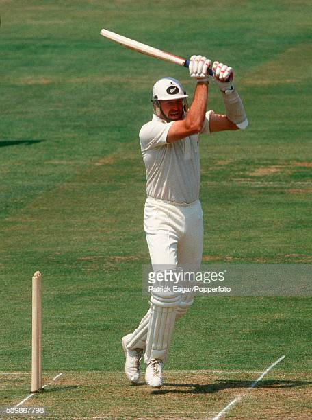 Jeremy Coney of New Zealand batting during the 1st Test match between England and New Zealand at Lord's Cricket Ground London 26th July 1986