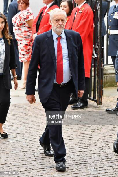 Jeremy Corbyn attends as members of the Royal Family attend events to mark the centenary of the RAF on July 10 2018 in London England