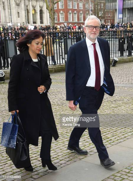 Jeremy Corbyn attends the Commonwealth Day Service 2020 at Westminster Abbey on March 09 2020 in London England