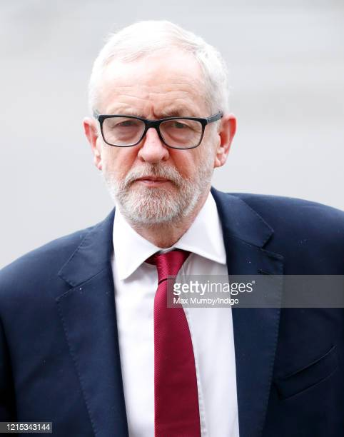 Jeremy Corbyn attends the Commonwealth Day Service 2020 at Westminster Abbey on March 9 2020 in London England The Commonwealth represents 24 billion...