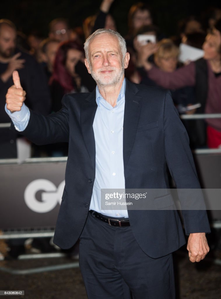 Jeremy Corbyn attends the GQ Men Of The Year Awards at Tate Modern on September 5, 2017 in London, England.