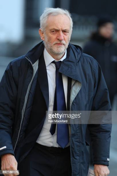 Jeremy Corbyn attends the Grenfell Tower national memorial service held at St Paul's Cathedral on December 14 2017 in London England