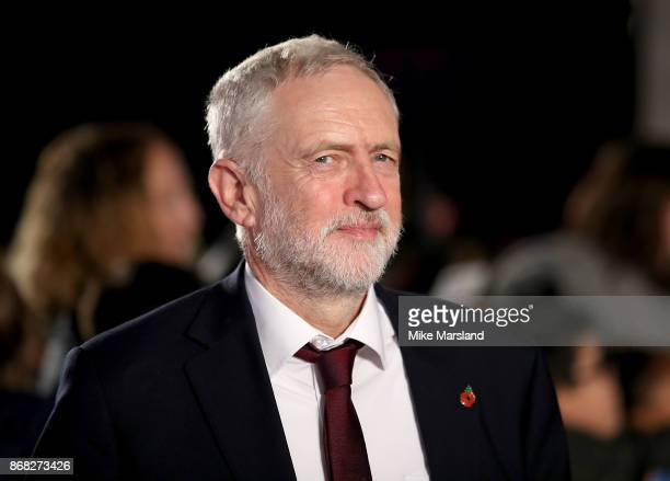 Jeremy Corbyn attends the Pride Of Britain Awards at Grosvenor House on October 30 2017 in London England