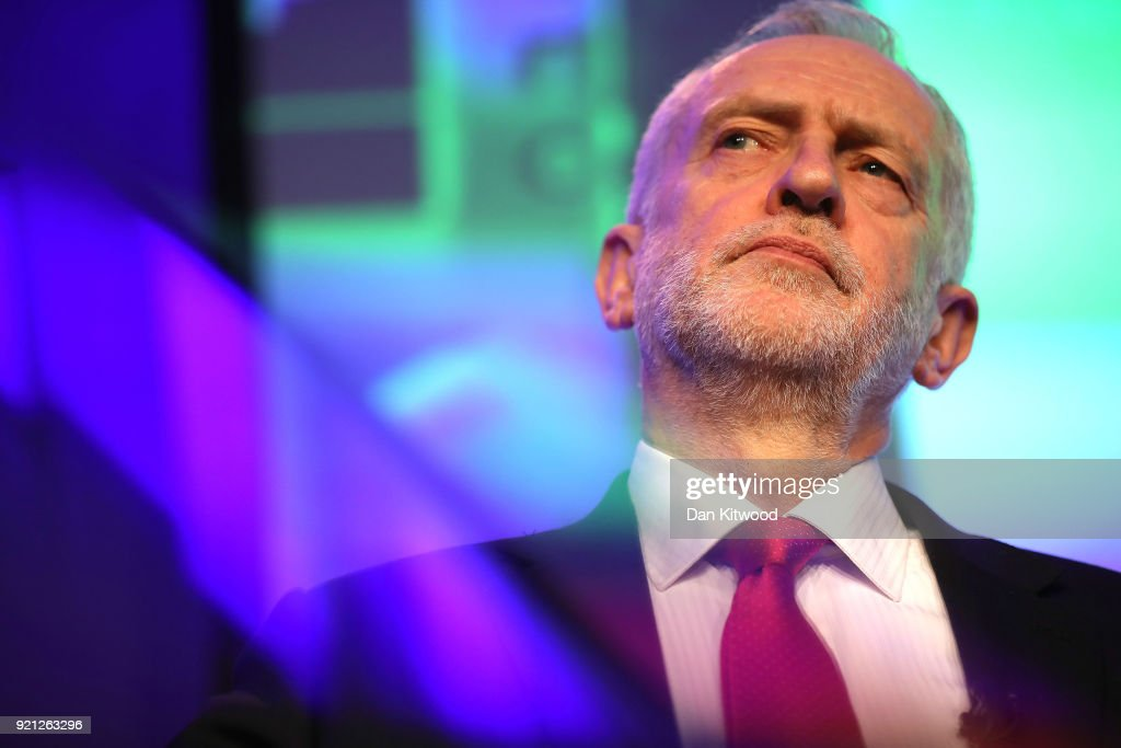 Jeremy Corbyn Delivers Speech On Banking To The EEF