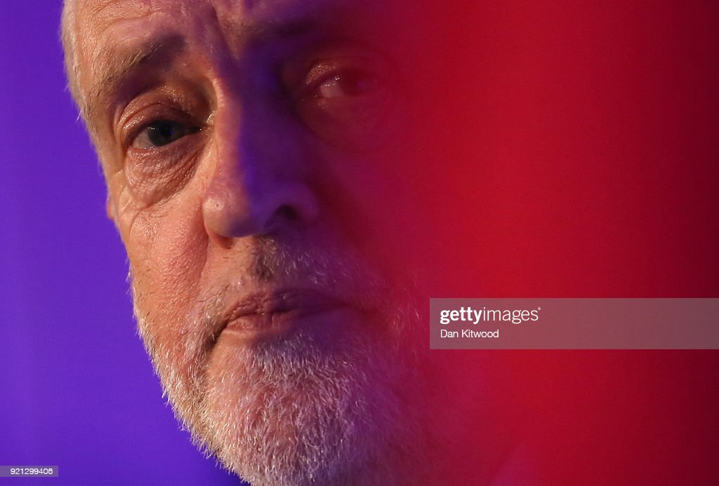 Jeremy Corbyn Delivers Speech On Banking To The EEF : News Photo