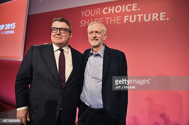 Jeremy Corbyn is announced as the new leader of the Labour Party with Tom Watson elected the new deputy leader at the Queen Elizabeth II conference...