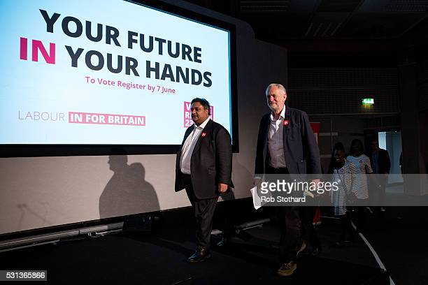 Jeremy Corbyn leader of the Labour Party arrives at The Fleming Room in the QE2 centre on May 14 2016 in London England The Labour leader is...