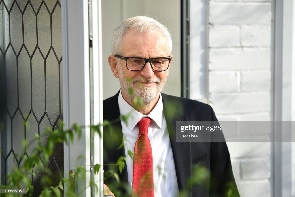Jeremy Corbyn Says He Will Step Down As Leader Following Party's Defeat : News Photo