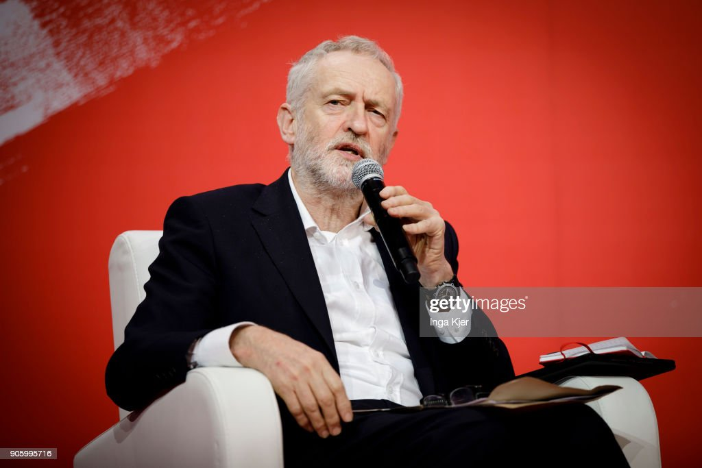 Jeremy Corbyn, Leader of the UK Labour Party, in the course of the PES party congress on December 02, 2017 in Lisbon, Portugal.