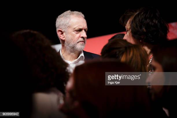 Jeremy Corbyn Leader of the UK Labour Party in the course of the PES party congress on December 02 2017 in Lisbon Portugal
