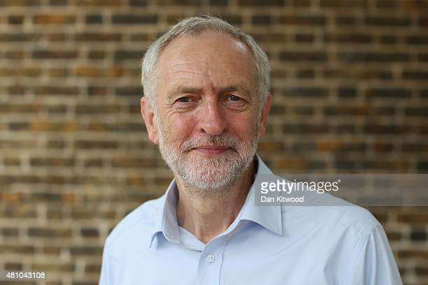 Jeremy Corbyn poses for a portrait on July 16 2015 in London England Jeremy Bernard Corbyn is a British Labour Party politician and has been a member...