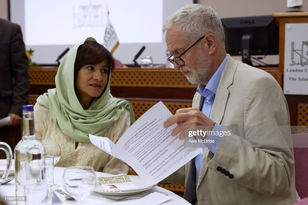 GBR: Jeremy Corbyn Joins Regents Park Mosque Community For Iftar