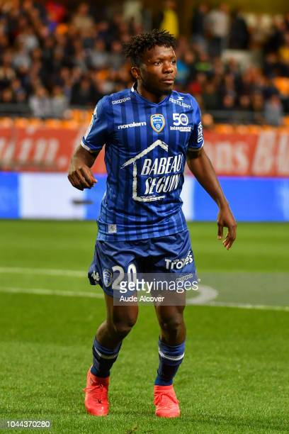 Jeremy Cordoval of Troyes during the French Ligue 2 match between Troyes and Auxerre at Stade de l'Aube on October 1 2018 in Troyes France