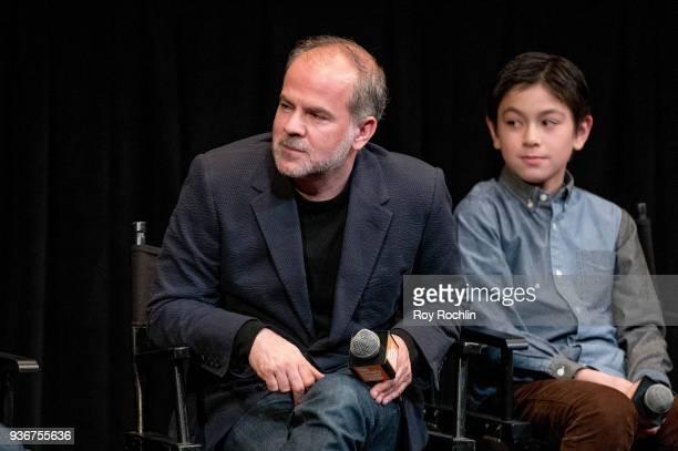 Jeremy Dawson and Koyu Rankin discusses 'Isle Of Dogs' during the New York Screening QA at The Film Society of Lincoln Center Walter Reade Theatre on...