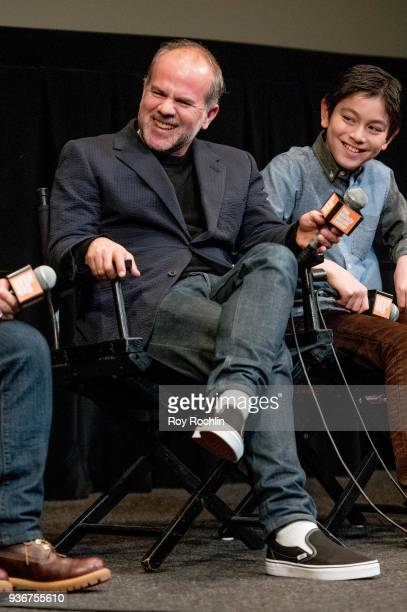 Jeremy Dawson discusses 'Isle Of Dogs' during the New York Screening QA at The Film Society of Lincoln Center Walter Reade Theatre on March 22 2018...