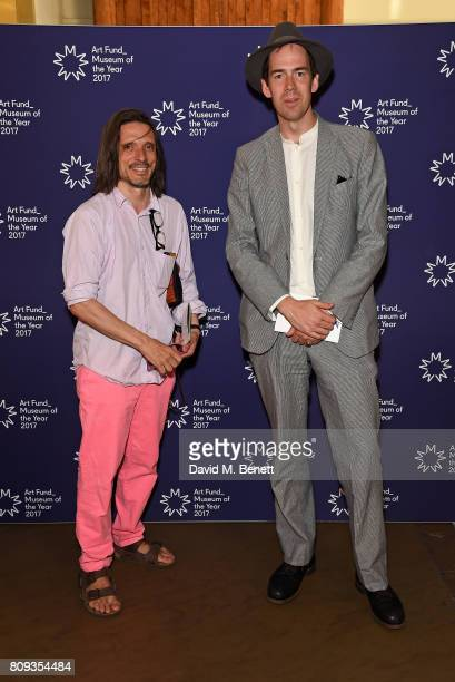 Jeremy Deller and Jonty Claypole attend the Art Fund Museum Of The Year drinks reception at The British Museum on July 5 2017 in London England