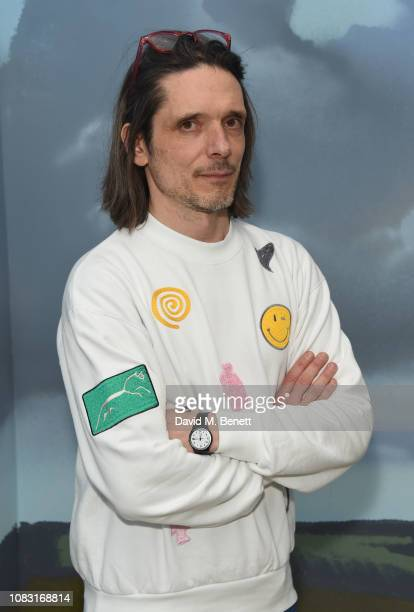 Jeremy Deller attends the launch of 'Wiltshire Before Christ' by Aries X Jeremy Deller x David Sims at The Store X 180 The Strand on January 15 2019...