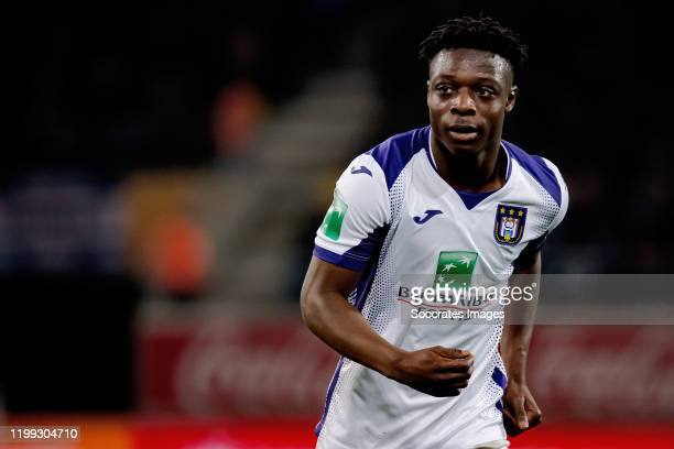 Jeremy Doku of Anderlecht during the Belgium Pro League match between Gent v Anderlecht at the Ghelamco Arena on February 7, 2020 in Gent Belgium