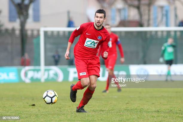 Jeremy Drouglazet of Concarneau during the french National Cup match between Houilles and Concarneau on January 6 2018 in Houilles France