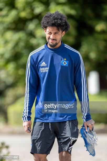 Jeremy Dudziak of Hamburger SV during the training session of Hamburger SV on May 15 2020 in Herzogenaurach Germany