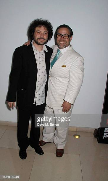 Jeremy Dyson and Andy Nyman attend the Ghost Stories Press Night Party held on July 14 2010 at the St Martins Lane Hotel in London England