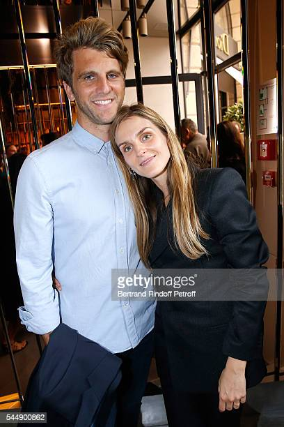 Jeremy Everett and Creative director of the Italian jewellery brand Repossi Gaia Repossi attend the Repossi Vendome Flagship Store Inauguration at...