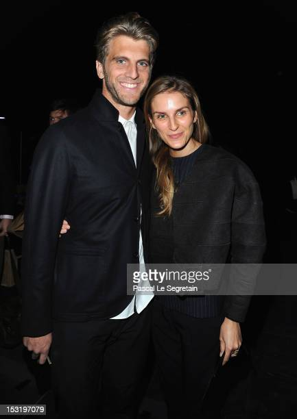 Jeremy Everett and Gaia Repossi attends the Saint Laurent Spring / Summer 2013 show as part of Paris Fashion Week on October 1 2012 in Paris France