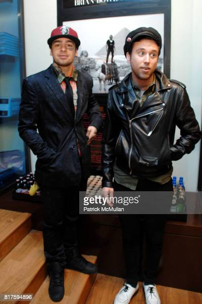 Jeremy Garcia and Bradley Dugan attend Bookmarc Celebrates Brian Bowen Smith and the Men and Women of Los Angeles at Bookmarc Store on December 15...