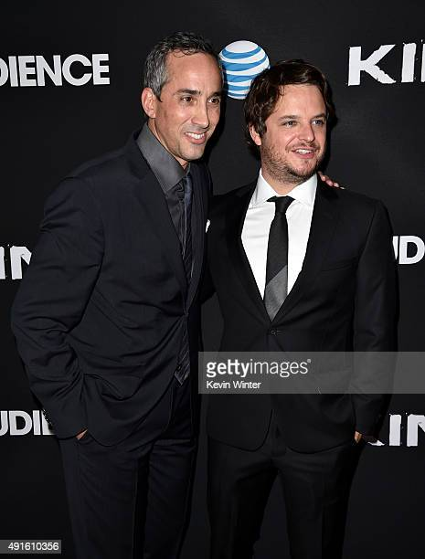 Jeremy Gold EVP Endemol Shine Studios and creator/EP Byron Balasco attend the premiere of DIRECTV's Kingdom Season 2 at SilverScreen Theater at the...