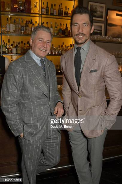 Jeremy Hackett and David Gandy attend the British GQ dinner cohosted by Dylan Jones Jack Guinness in partnership with JPHackett No14 Savile Row...