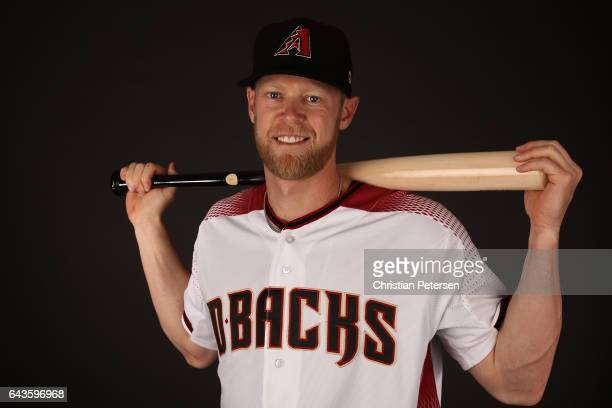 Jeremy Hazelbaker of the Arizona Diamondbacks poses for a portrait during photo day at Salt River Fields at Talking Stick on February 21 2017 in...