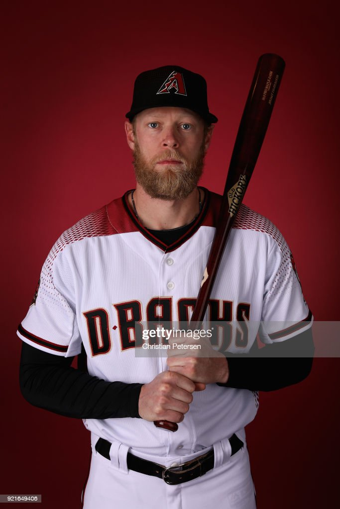 Jeremy Hazelbaker #41 of the Arizona Diamondbacks poses for a portrait during photo day at Salt River Fields at Talking Stick on February 20, 2018 in Scottsdale, Arizona.