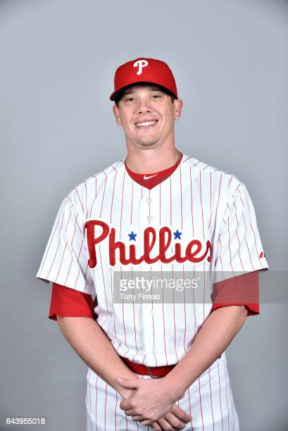Jeremy Hellickson of the Philadelphia Phillies poses during Photo Day on Monday February 20 2017 at Spectrum Field in Clearwater Florida