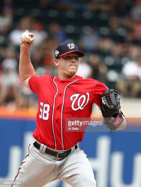 Jeremy Hellickson of the Washington Nationals pitches against the New York Mets during their game at Citi Field on July 15 2018 in New York City