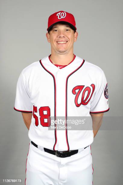 Jeremy Hellickson of the Washington Nationals poses during Photo Day on Friday February 22 2019 at the FITTEAM Ballpark of the Palm Beaches in West...