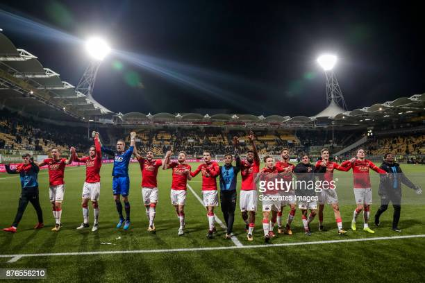 Jeremy Helmer of AZ Alkmaar Stijn Wuytens of AZ Alkmaar Teun Koopmeiners of AZ Alkmaar Marco Bizot of AZ Alkmaar Alireza Jahanbakhsh of AZ Alkmaar...