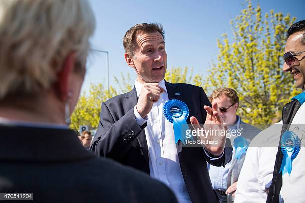 Jeremy Hunt incumbent Secretary of State for Health and the Member of Parliament for South West Surrey joins local Conservative Party activists as...