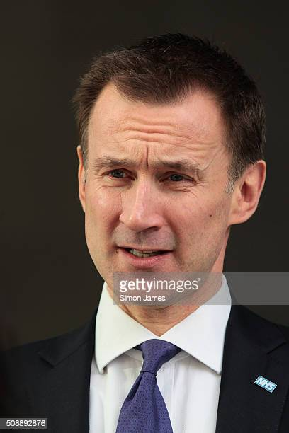 Jeremy Hunt MP secretary of health sighting on February 7 2016 in London England