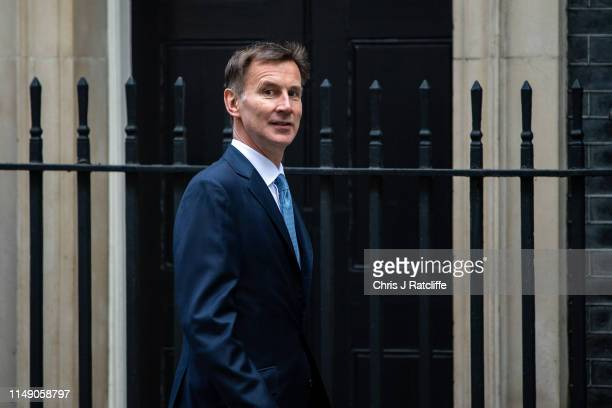 Jeremy Hunt MP Secretary of State for Foreign and Commonwealth Affairs, arrives to attend a cabinet meeting at 10 Downing Street on June 11, 2019 in...