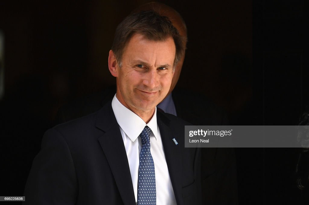 Jeremy Hunt, Secretary of State for Health leaves 10 Downing Street on June 12, 2017 in London, England. British Prime Minister Theresa May held her first cabinet meeting with her re-shuffled team today.