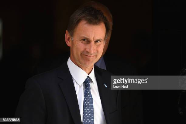 Jeremy Hunt Secretary of State for Health leaves 10 Downing Street on June 12 2017 in London England British Prime Minister Theresa May held her...