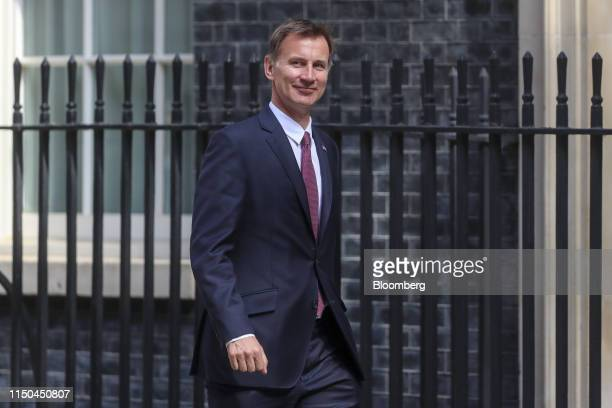 Jeremy Hunt, U.K. Foreign secretary and Conservative party leadership candidate, arrives for a weekly meeting of cabinet ministers at number 10...