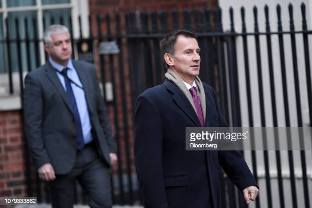 Jeremy Hunt UK foreign secretary arrives for a weekly meeting of cabinet ministers at number 10 Downing Street in London UK on Tuesday Jan 8 2019 UK...