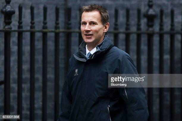 Jeremy Hunt UK health secretary arrives to attend the weekly cabinet meeting at Downing Street in London UK on Tuesday Nov 15 2016 The UK denied a...