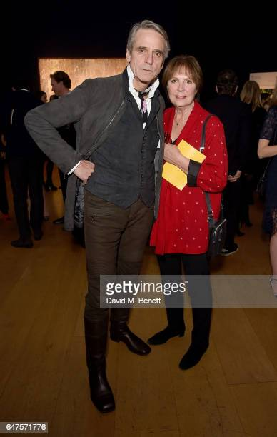 Jeremy Irons and Dame Penelope Wilton attend the Be Inspired private view and party in aid of Children the Arts on March 3 2017 in London England