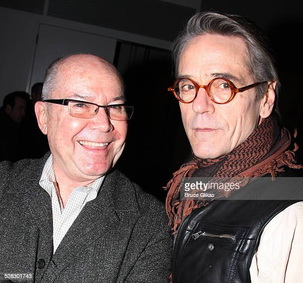 Jeremy Irons and Director Jack O'Brien attend a meetandgreet for the Broadway show Impressionism at the New 42nd Street Studios on February 17 2009...