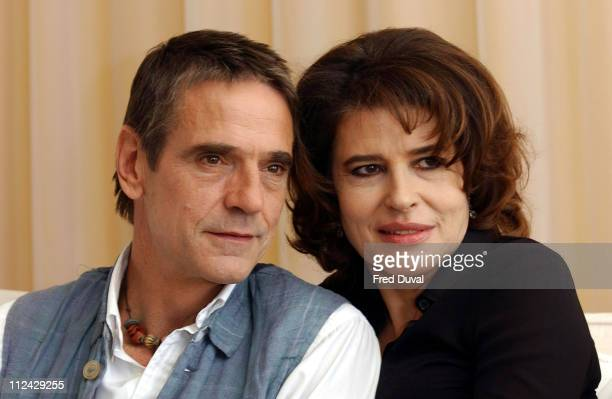 Jeremy Irons and Fanny Ardant during Callas Forever London Photocall at Sanderson Hotel in London Great Britain