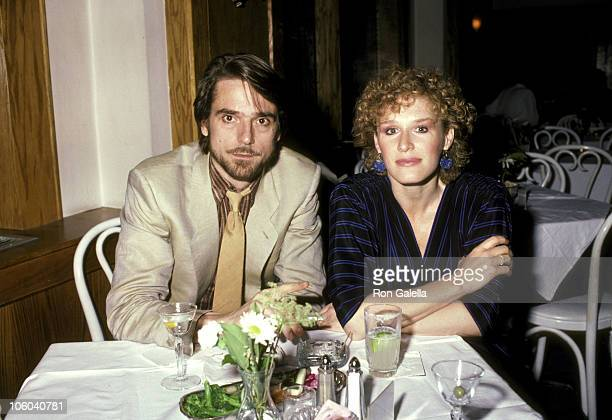 Jeremy Irons and Glenn Close during 'Hurlyburly' Preview After Party June 14 1984 at Hisae Restaurant in New York City New York United States