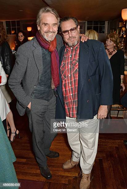 Jeremy Irons and Julian Schnabel attend an exclusive dinner hosted by Charles Finch Mulberry and PORTER Magazine for Julian Schnabel at 34 Grosvenor...