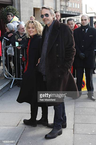 Jeremy Irons and Julie Hallam attend the TRIC Awards on March 12 2013 in London England